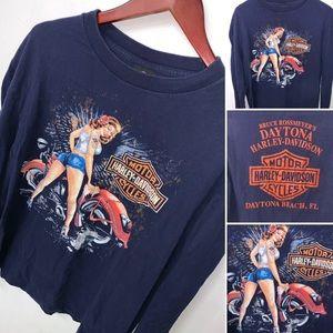 Harley Davidson Daytona Beach Florida Shirt Large